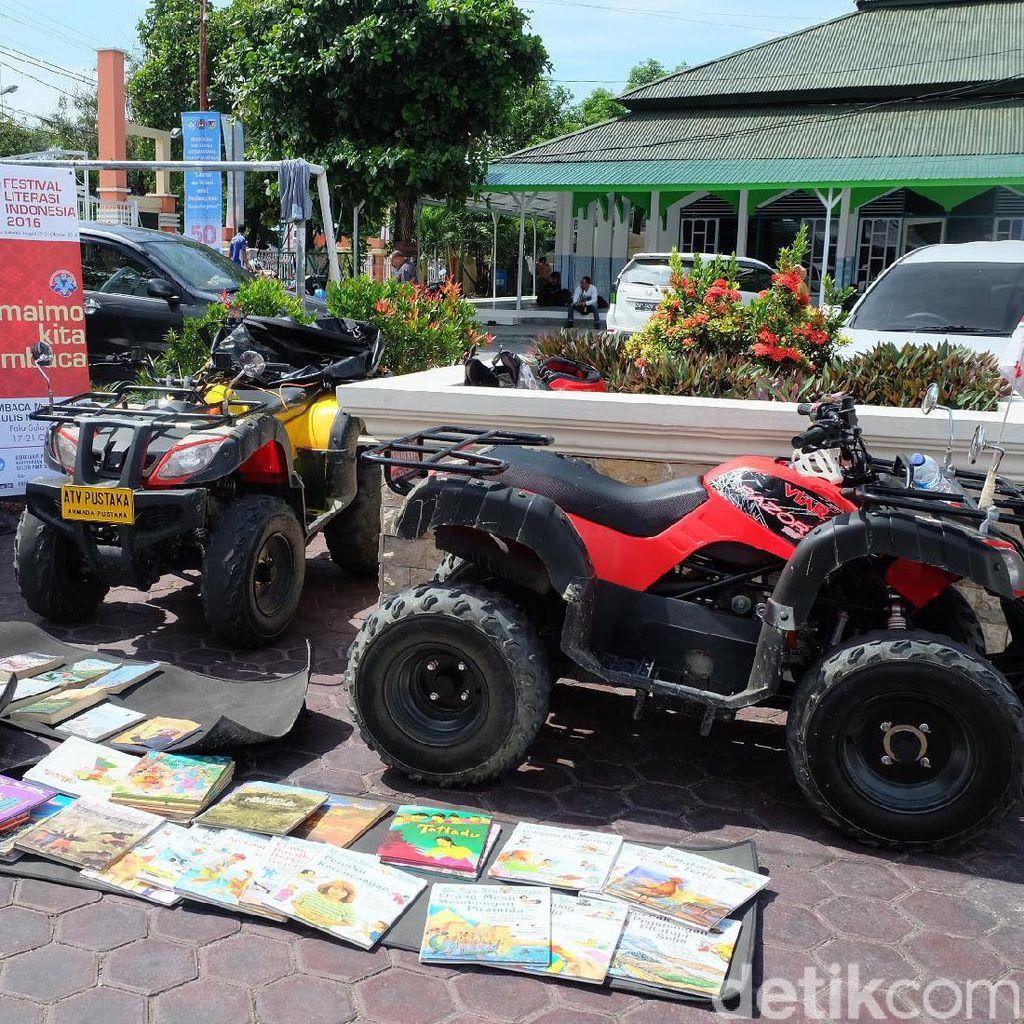 Demi Festival Literasi Indonesia, Armada Pustaka Tempuh 600 Km Naik ATV