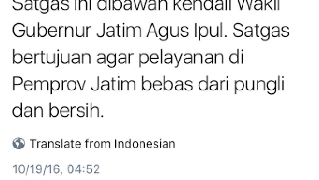 Akun Twitter Pemprov Jatim Salah Ketik Tulis Nama Wagub Gus Ipul