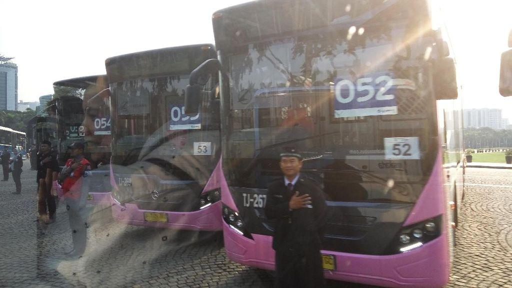 Asyik! TransJakarta Tambah 116 Bus Mercy dan Scania Baru