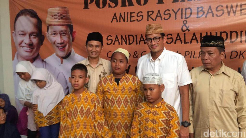 Resmikan Posko Pemenangan di Duren Sawit, Sandiaga: Jaktim Lumbung Suara
