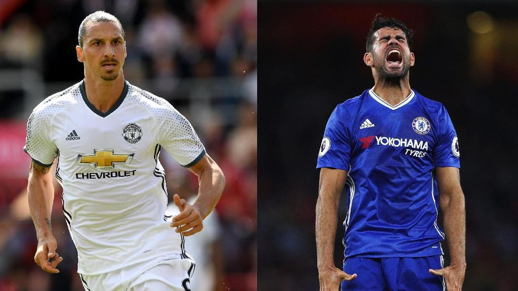 Diego Costa vs Zlatan Ibrahimovic, Siapa Lebih Buas?