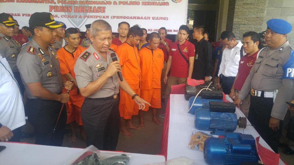 Dipecat dari TNI, Sulisno Otaki Perampokan di 6 Wilayah di Jateng