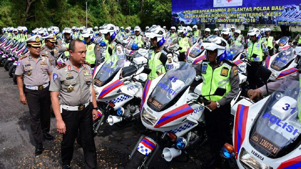 Kakorlantas Bekali Personel Rompi Antipeluru Untuk Ajang Interpol di Bali