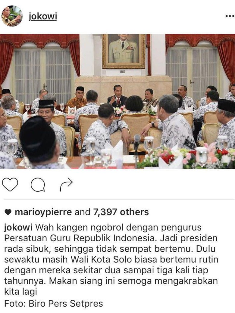 Saat Jokowi Kangen Ngobrol Dengan Guru Karena Sibuk Jadi Presiden