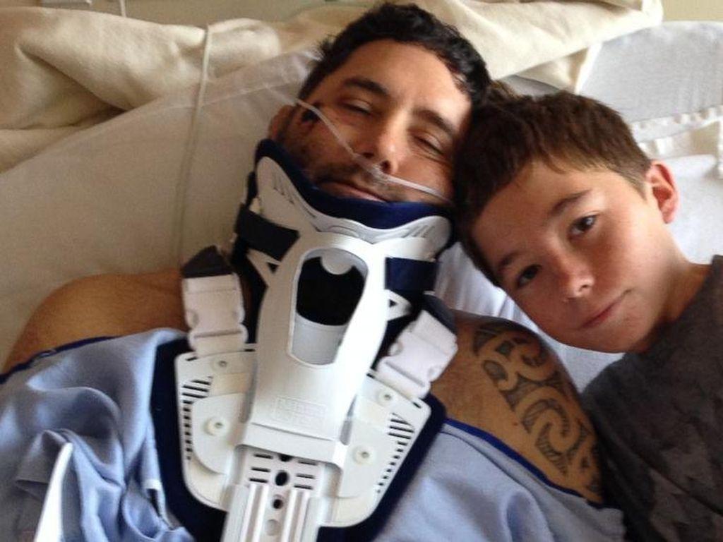 Kisah Charlie Bantu sang Ayah yang Ditabrak Batu Gunung Bertahan Hidup