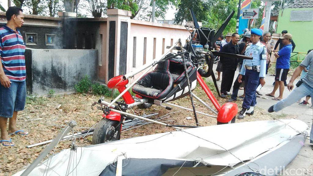 Pesawat Trike yang Jatuh di Bantul Diduga Karena Mesin Mati