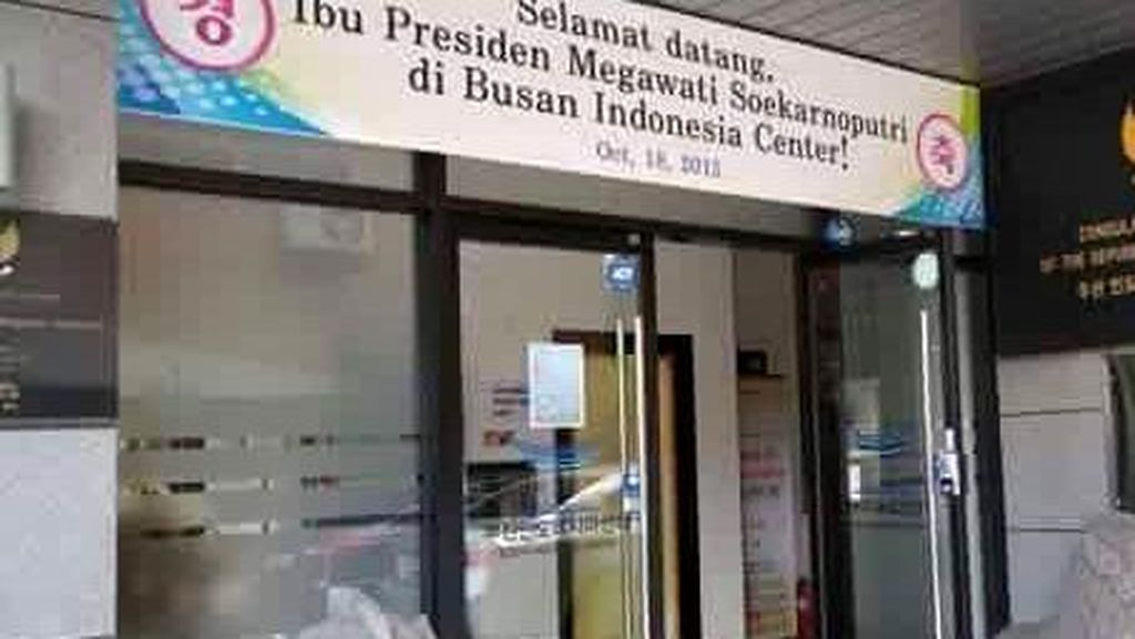 KBRI Minta Spanduk 'Selamat Datang Presiden Megawati' di Korsel Dicopot