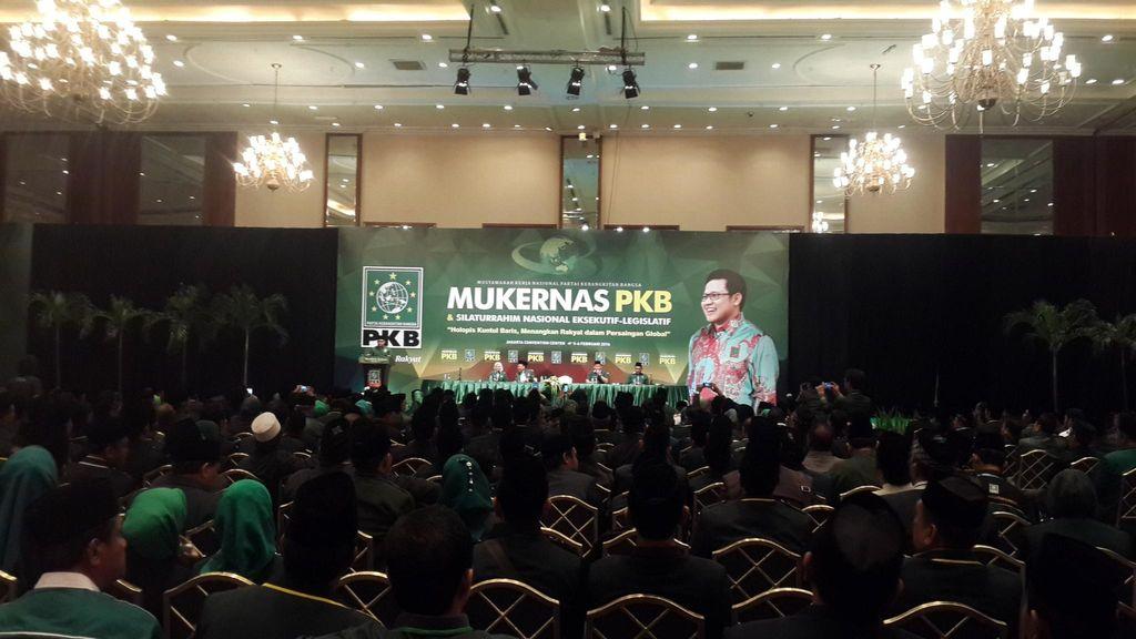 Bersama Mega, Presiden Jokowi dan Wapres JK Hadiri Mukernas PKB