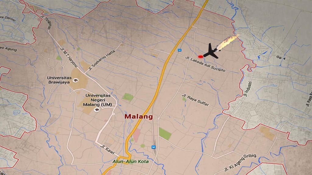 Pesawat Latih Jatuh di Malang