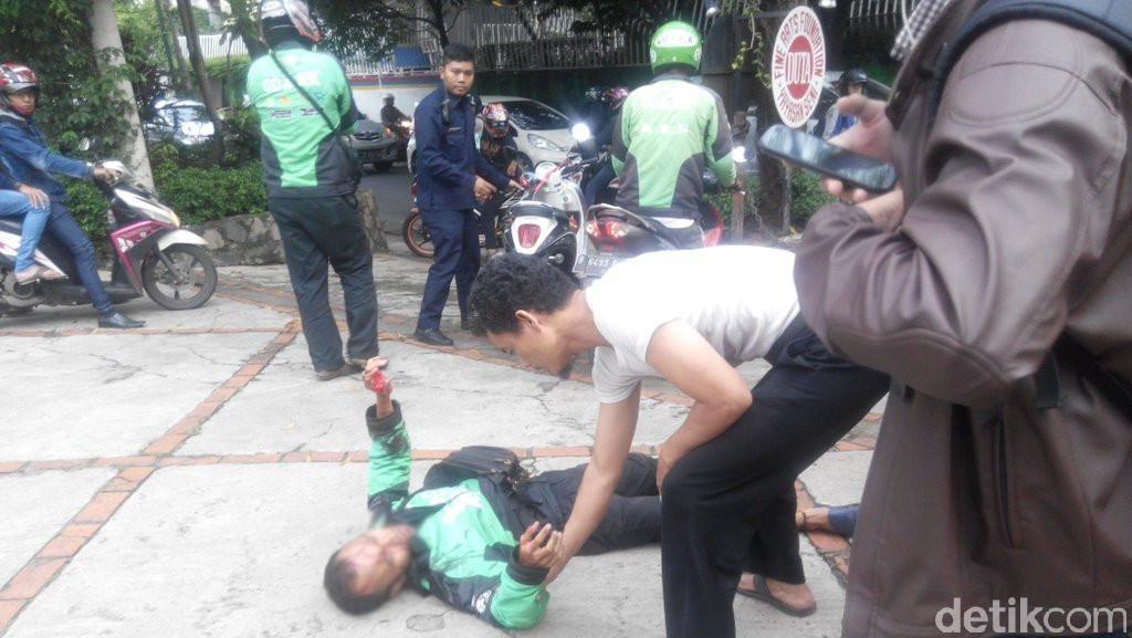 Polisi: Driver Go-Jek di Kemang Luka Bukan Karena Tembakan, Tapi Pukulan
