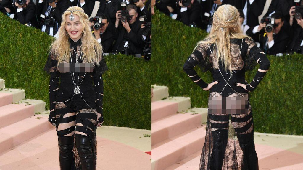 Pakai Baju Terbuka yang Pamerkan Bokong, Madonna: Itu Pernyataan Politik