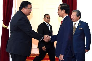 Jokowi Bertemu Menlu dan Panglima Filipina-Malaysia