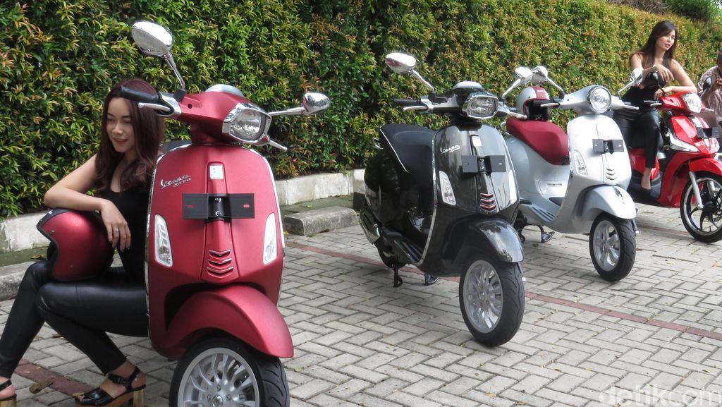 Piaggio Indonesia Luncurkan 4 Motor Serentak