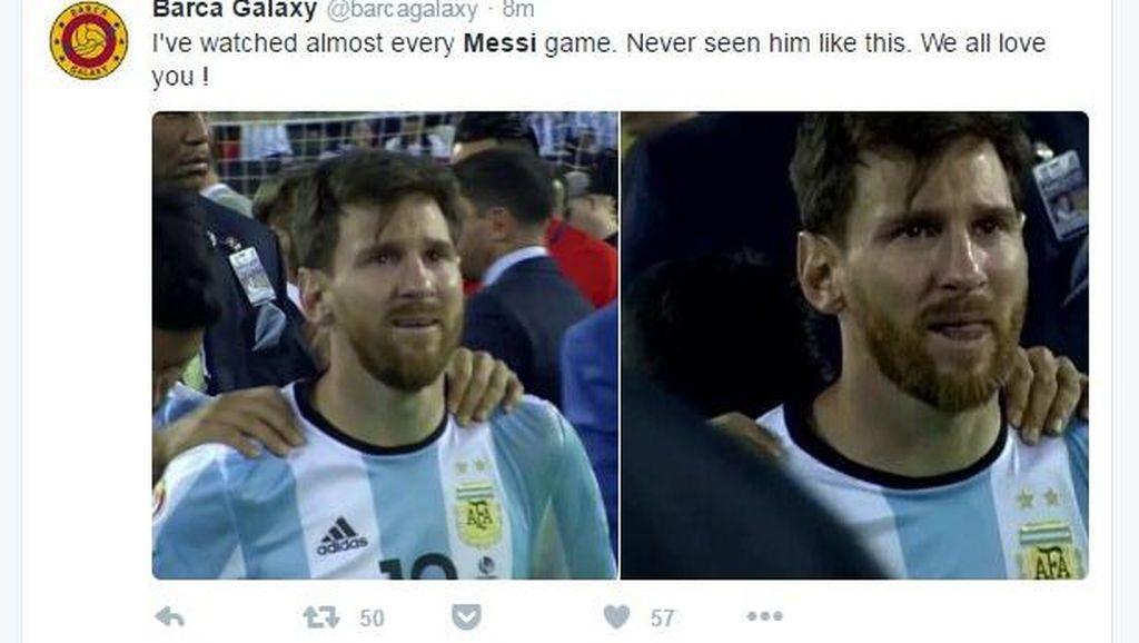 Pensiunnya Messi Ditangisi