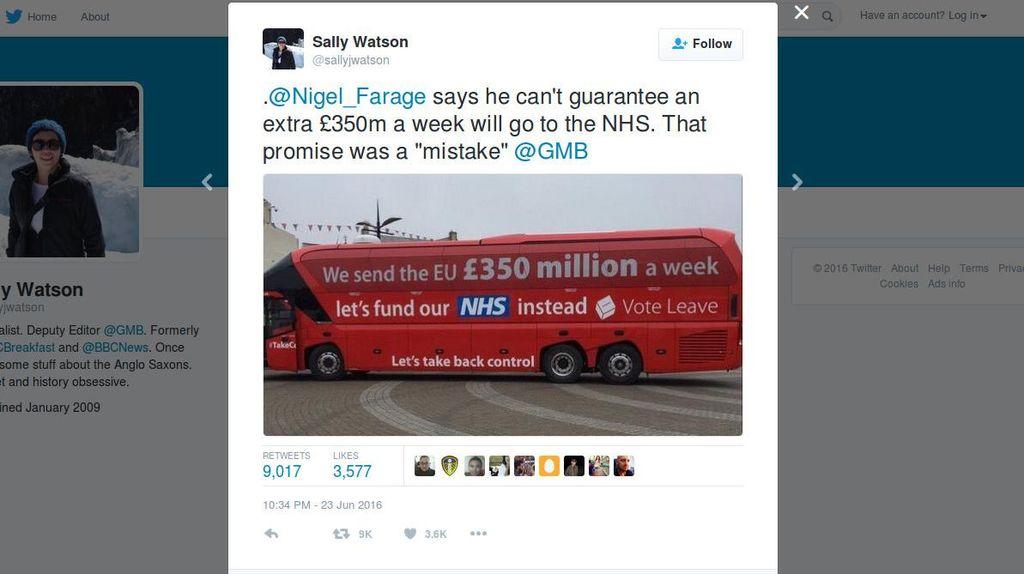 Saat Warga Inggris Kesal Tertipu Iklan Kampanye Brexit '350 Juta Pounds'