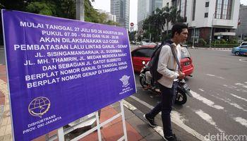 Uji Coba Kendaraan Ganjil Genap di Jakarta