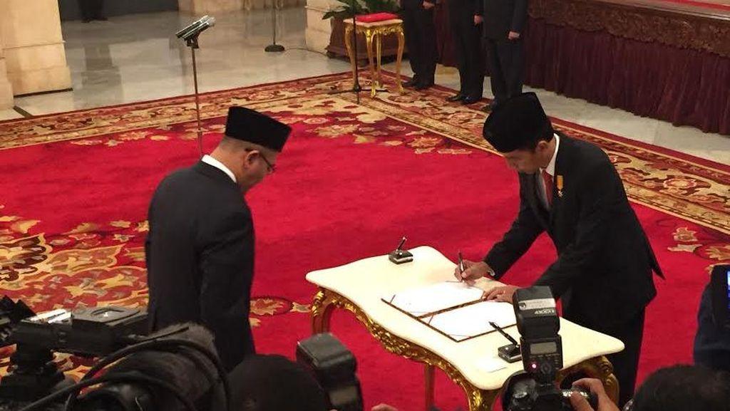 Dilantik Presiden, Hasyim Asy'ari Resmi Jabat Anggota KPU Pengganti Husni