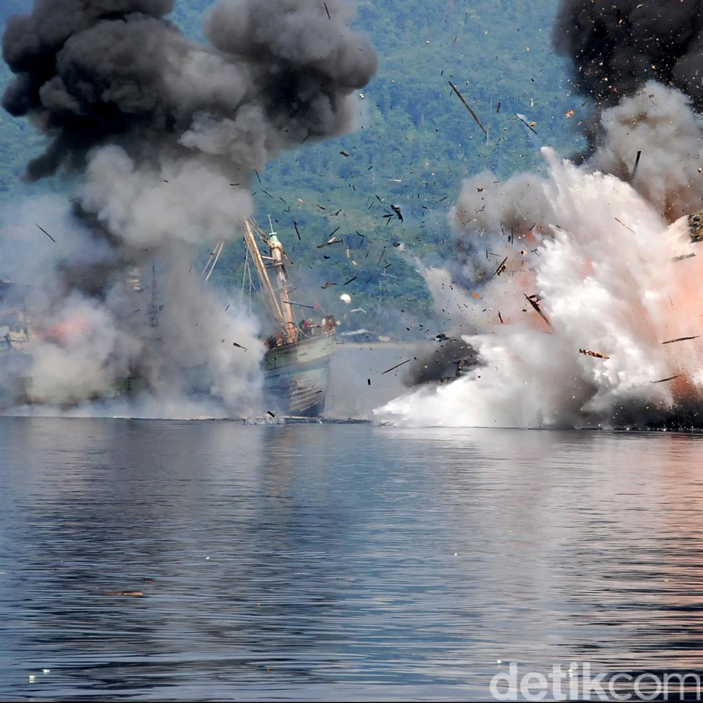 18 Bulan Bekerja, Satgas 115 Tenggelamkan 175 Kapal Pencuri Ikan