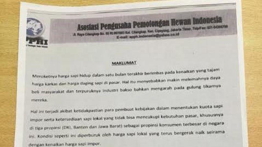 Polisi Ungkap Surat Pelarangan Pemotongan Daging Sapi, ini Penampakannya