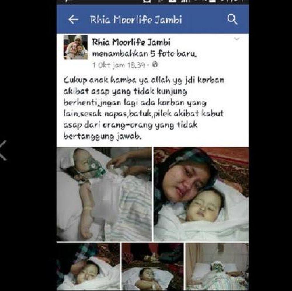 Kisah Ibu di Jambi yang Posting di Facebook Anaknya Meninggal karena Asap