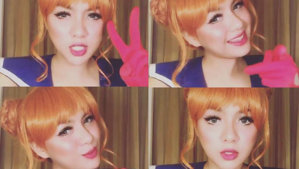 Kawaii! Vicky Shu Berubah Jadi Sailor Moon