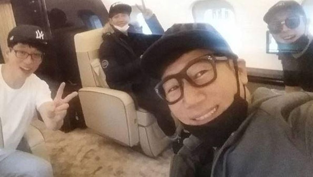 Whusssh! Running Man Terbang ke Tiongkok dengan Jet Pribadi