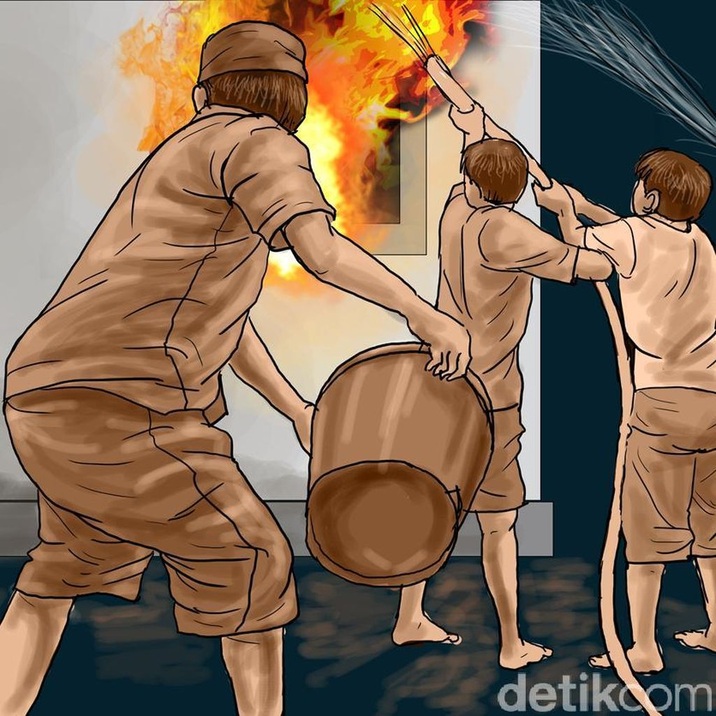 Rumah 2 Lantai di Johar Baru Jakpus Terbakar Akibat Korsleting Listrik