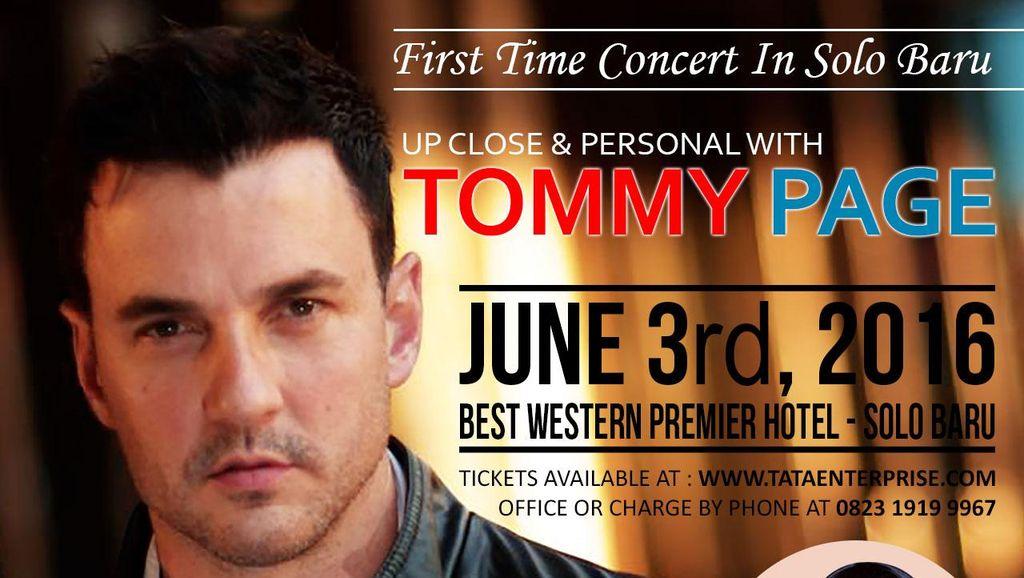 Tommy Page Gelar Konser di Solo dan Jakarta