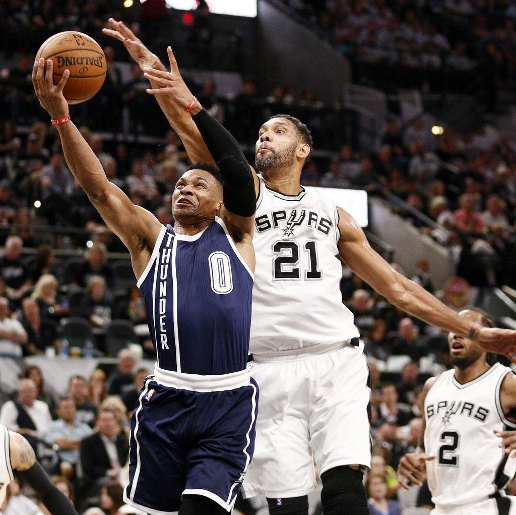 Spurs Kalahkan Thunder di Game 1
