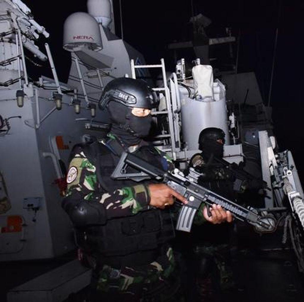 Antisipasi Ancaman, Kapal Perang Indonesia Bersiaga di Perairan Tawi-Tawi