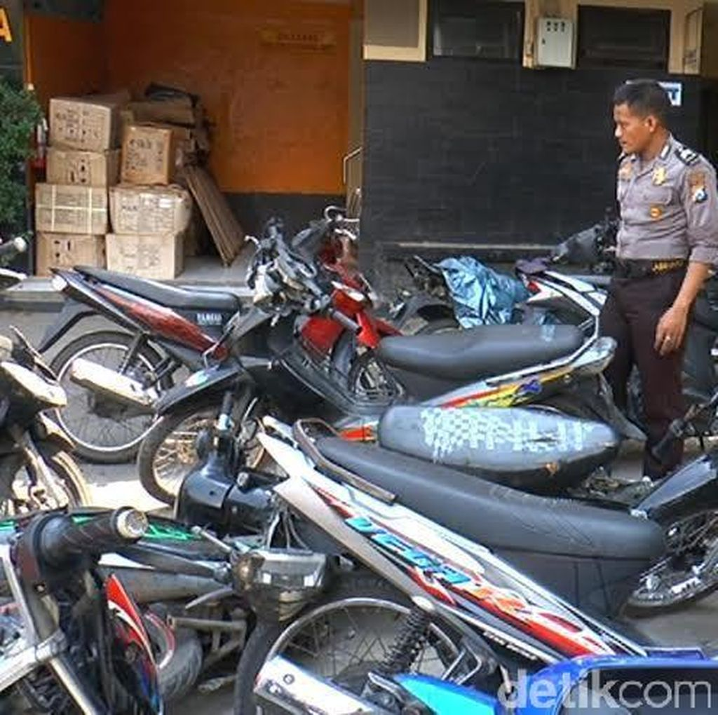 Polisi Amankan 37 Motor Tak Bertuan di Aksi Sweeping Suramadu