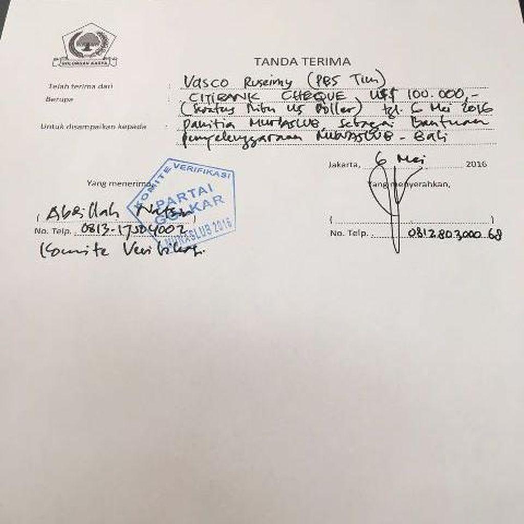 Priyo Budi Setor Iuran Rp 1 M ke Panitia Munaslub Golkar Pakai Dolar