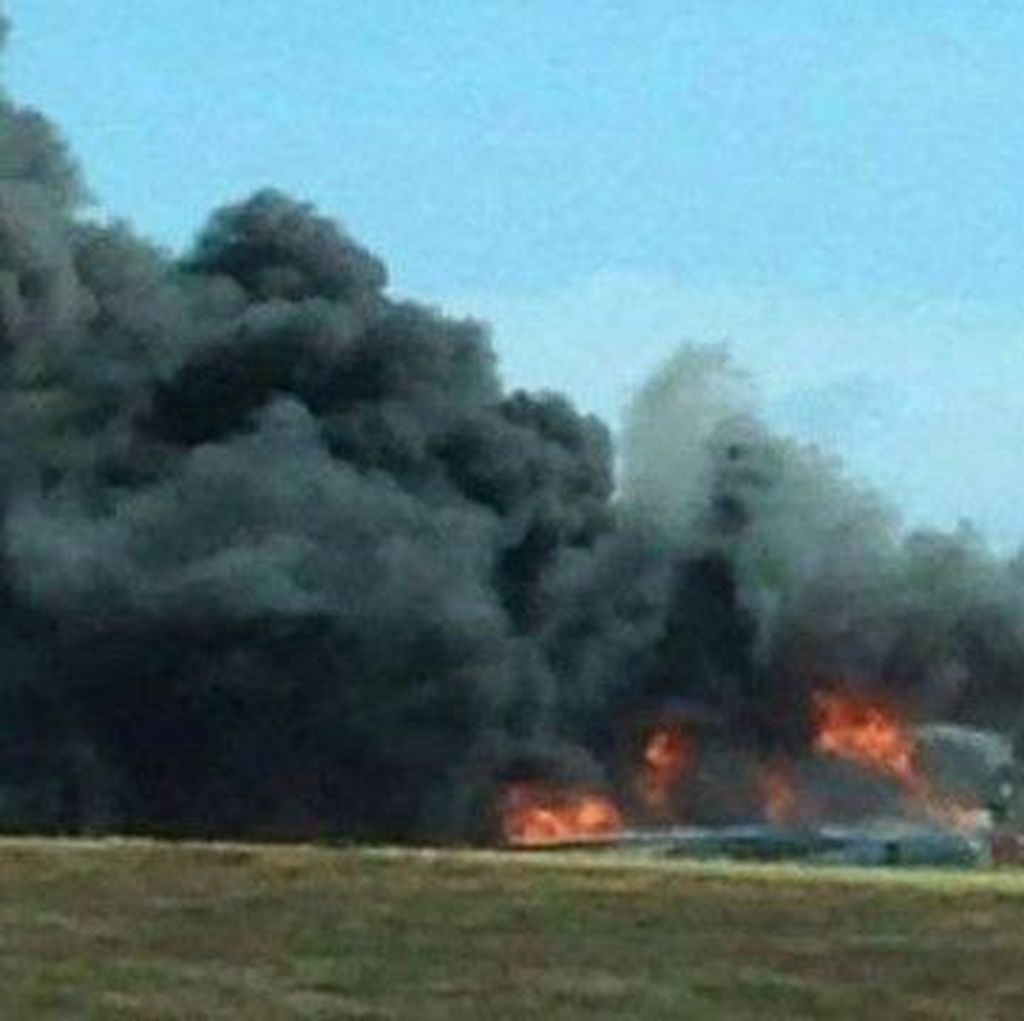 Pesawat Pengebom B-52 Milik AS Jatuh di Guam