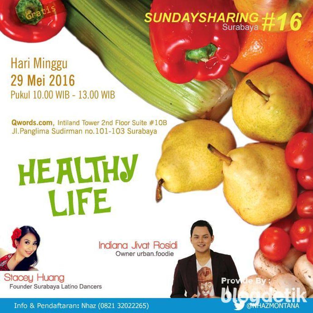 Berbagi Cara Hidup Sehat di Sunday Sharing Surabaya #16!