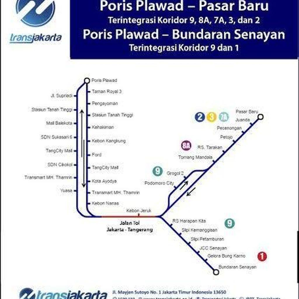 Mulai Hari Ini TransJ Buka 2 Rute Baru Layani Jakarta-Tangerang