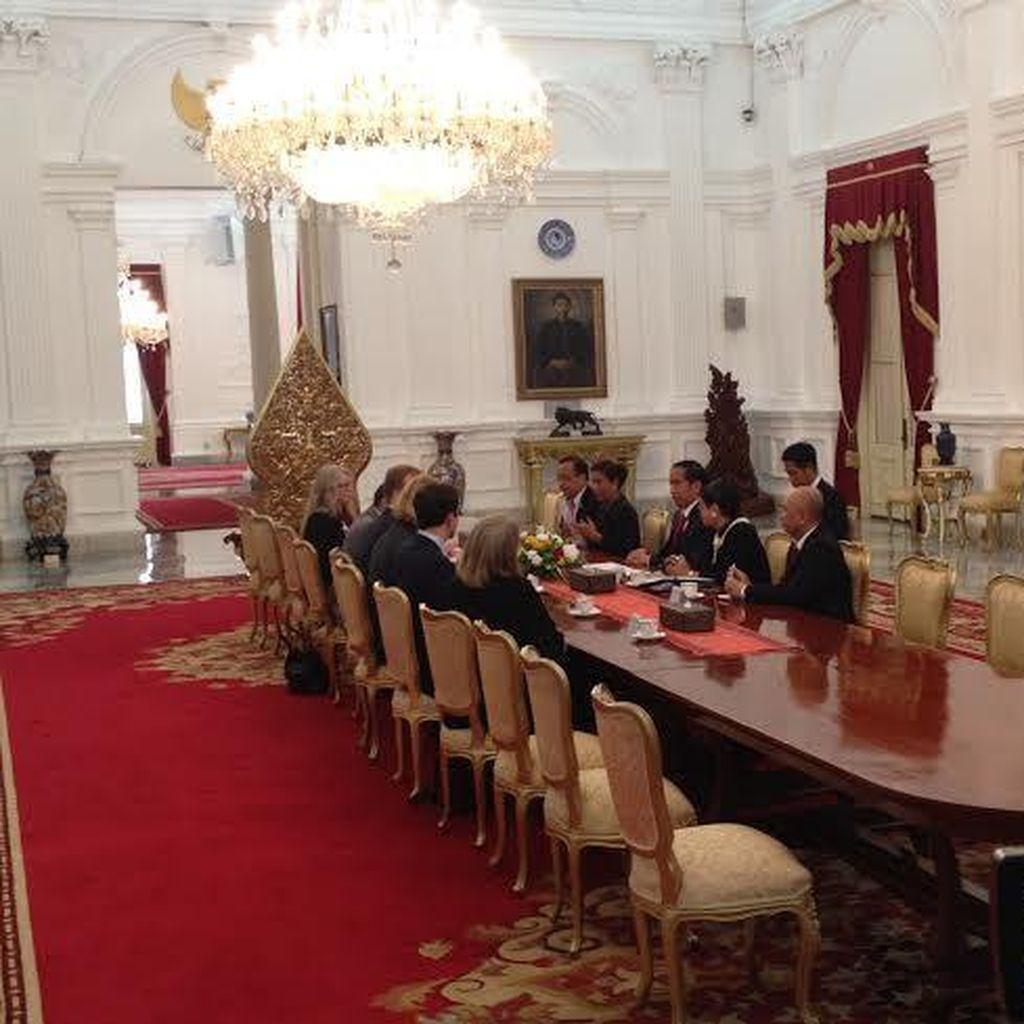 Jokowi Terima Menlu Norwegia di Istana Bahas Soal Kehutanan dan Perikanan