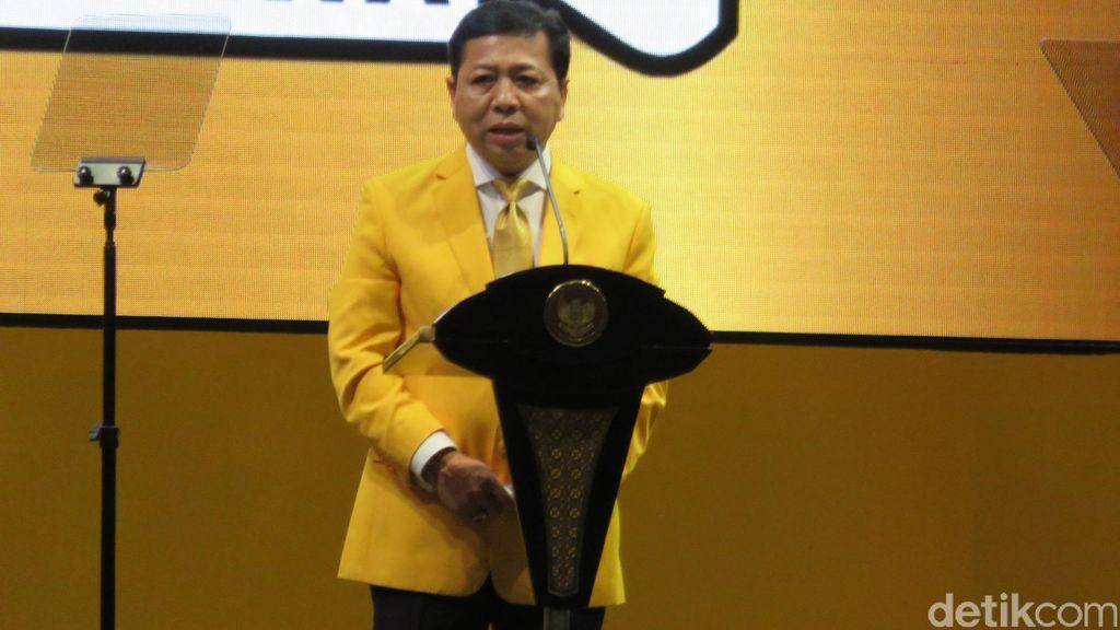 Novanto Banggakan Elektabilitas Golkar Melesat Setelah Capreskan Jokowi di 2019