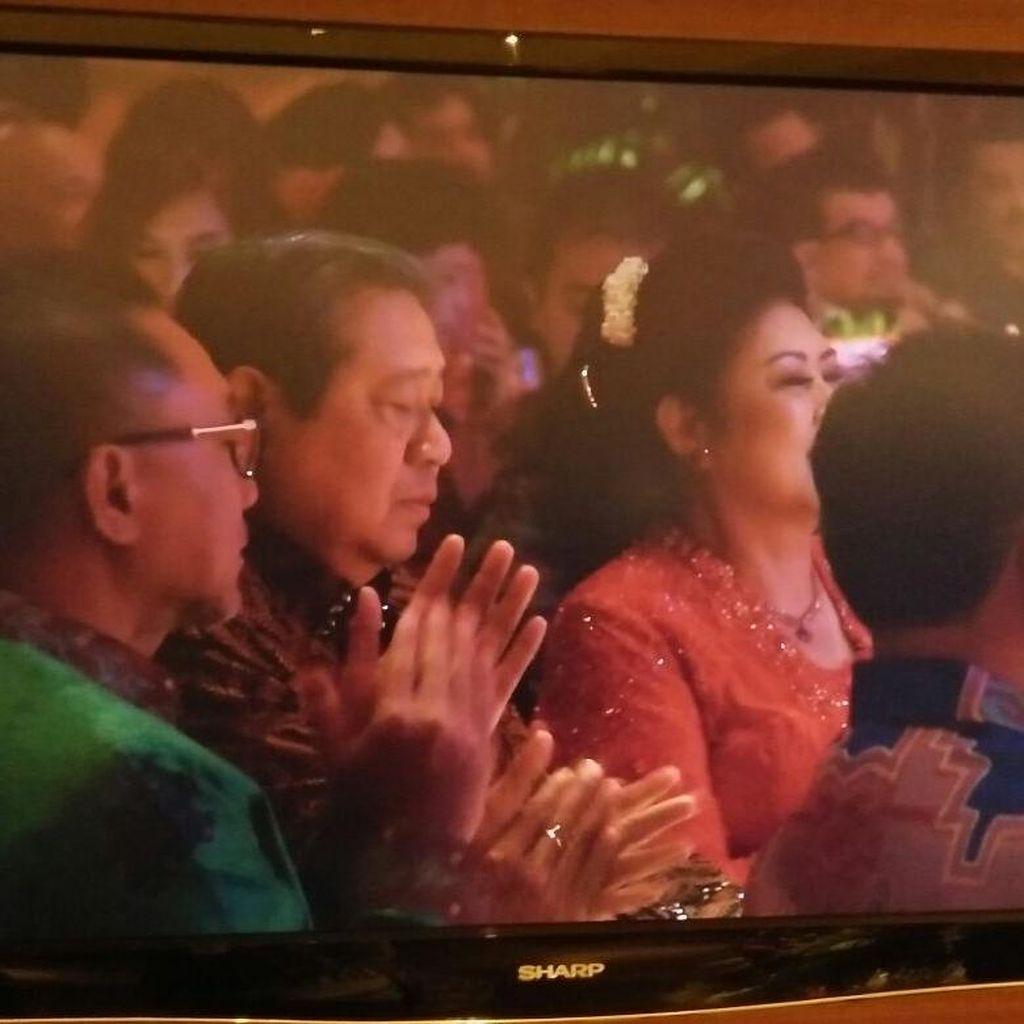 Saat SBY Pidato di Hadapan Para Mantan Menterinya