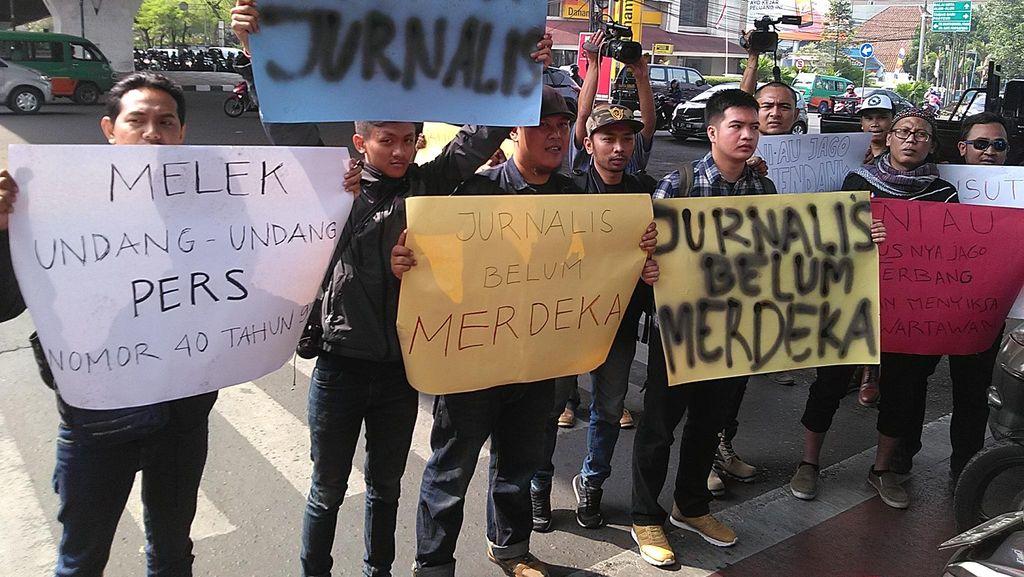 Tolak Kekerasan, Jurnalis Bandung: Usut Penganiaya Dua Wartawan di Medan