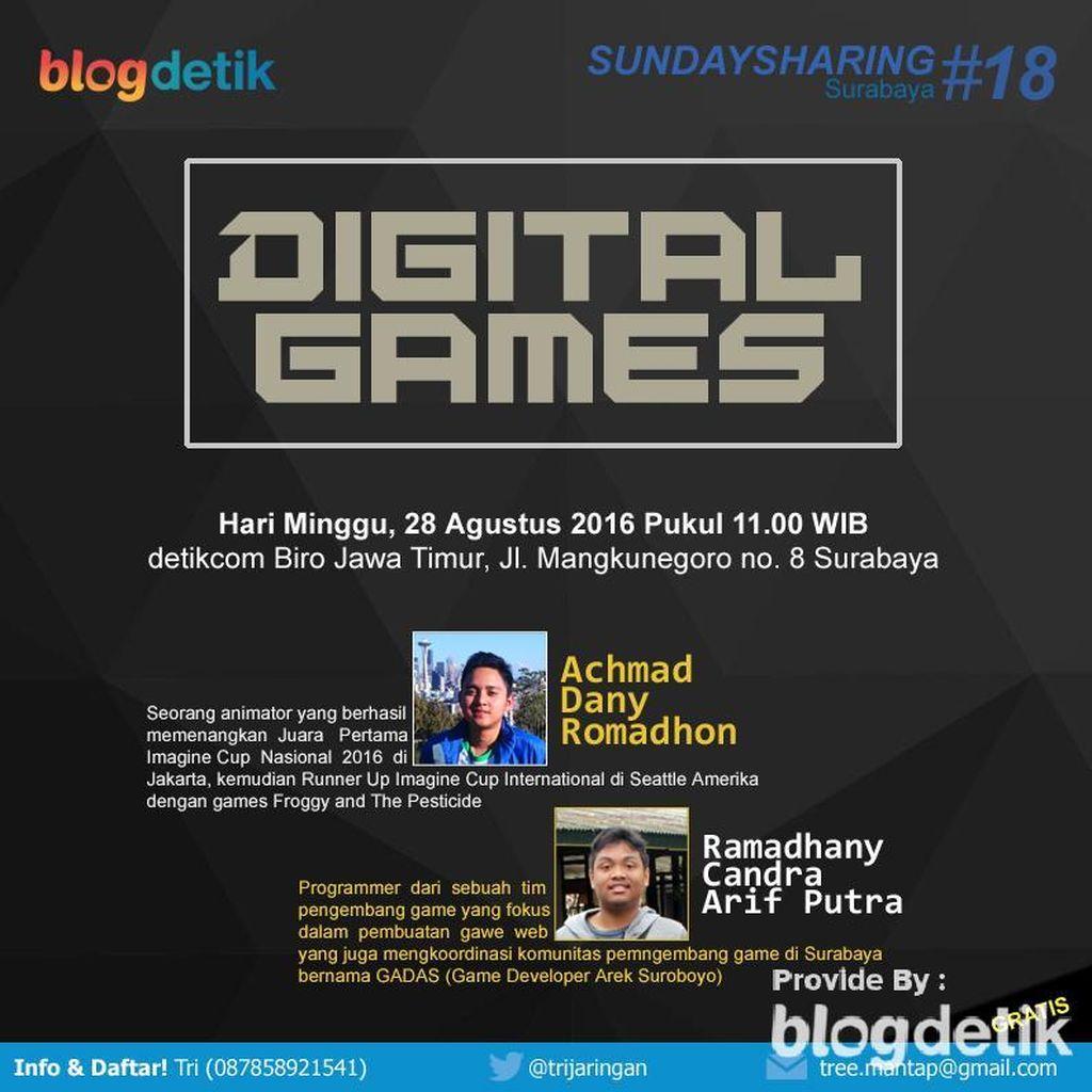 Yuk! Ngobrolin Seputar Digital Games di Sunday Sharing Surabaya #18