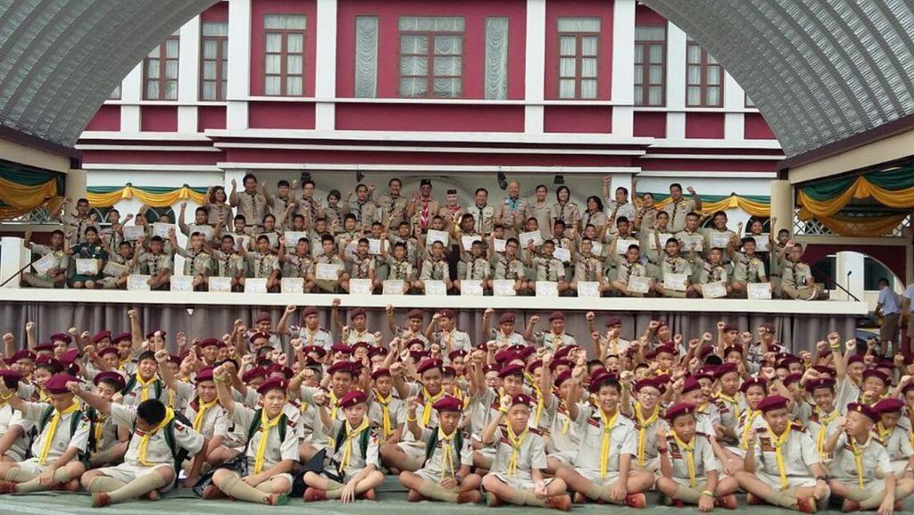 Ikut Jambore di Cibubur, 60 Pramuka Thailand Diganjar Penghargaan KBRI Bangkok