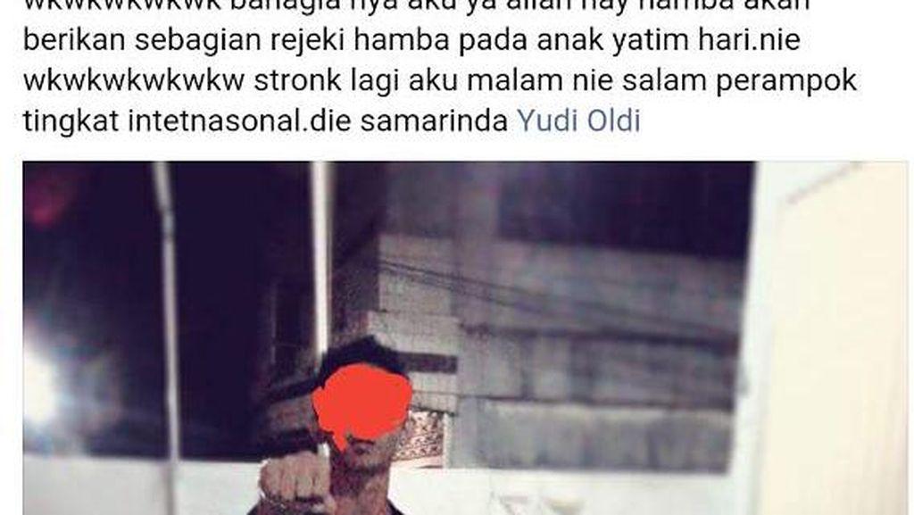 Pria Mengaku Perampok di Samarinda dan Unggah Status di Facebook Dicari Polisi