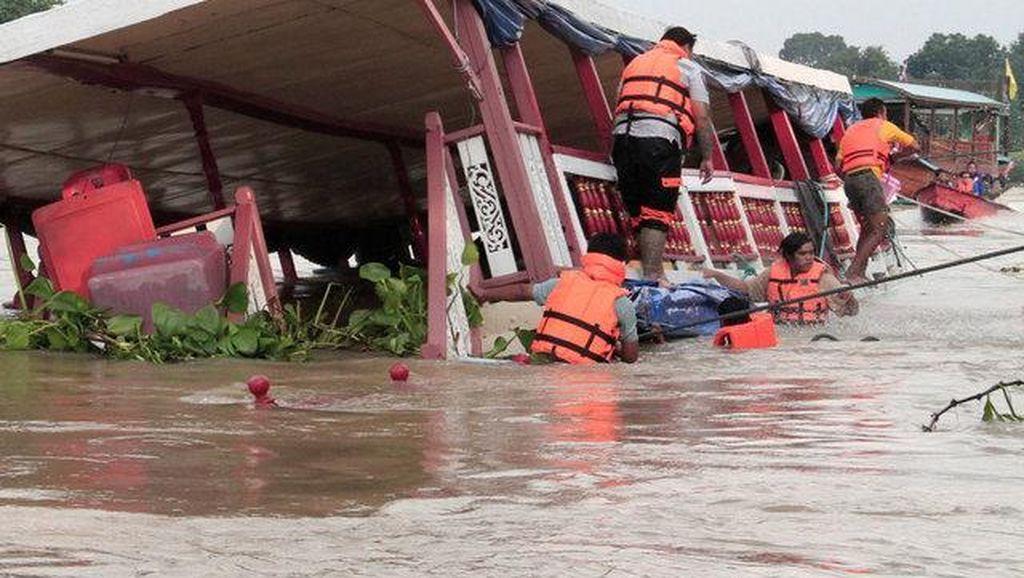 Perahu Terbalik di Chao Praya Thailand, 13 Orang Tewas