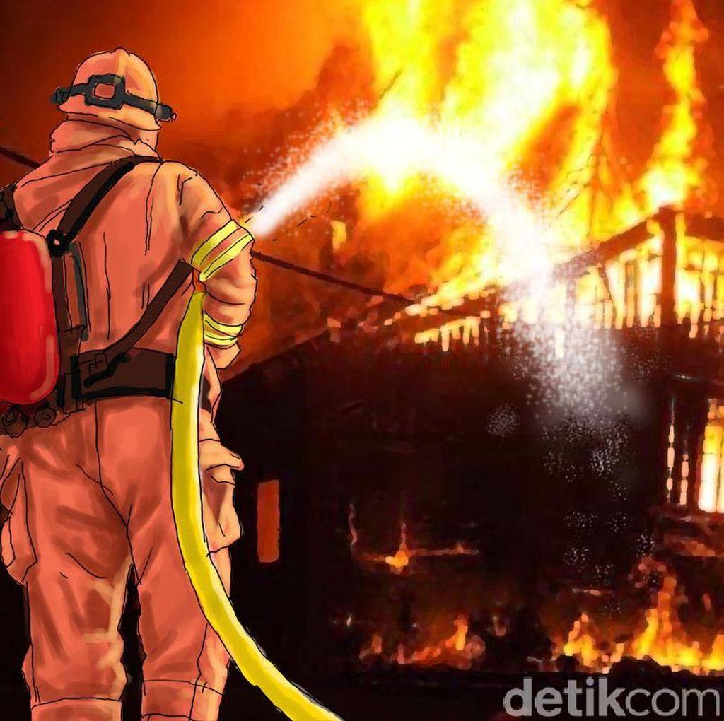 9 Mobil Damkar Padamkan Kebakaran di Basement Gedung BRI II