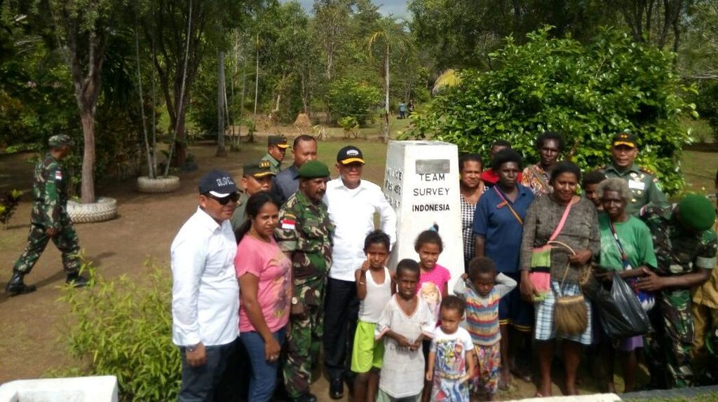 Menhan Tinjau Pos Perbatasan di Merauke, Janjikan Beri Drone dan Ranpur