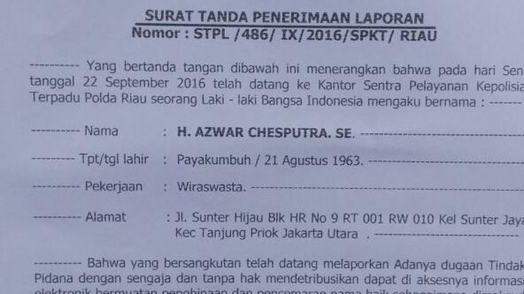 Disebut Terima Mahar Politik Rp 500 Juta, Eks Anggota DPR Polisikan Netizen