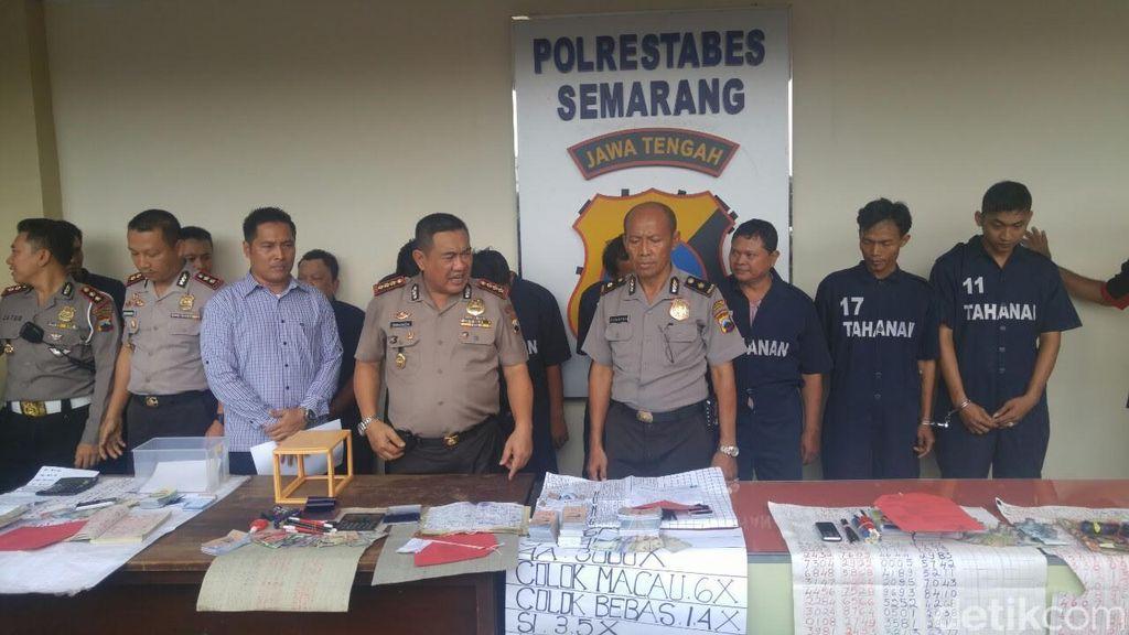Masyarakat Banyak Mengadu, 7 Bandar Judi Togel di Semarang Diciduk