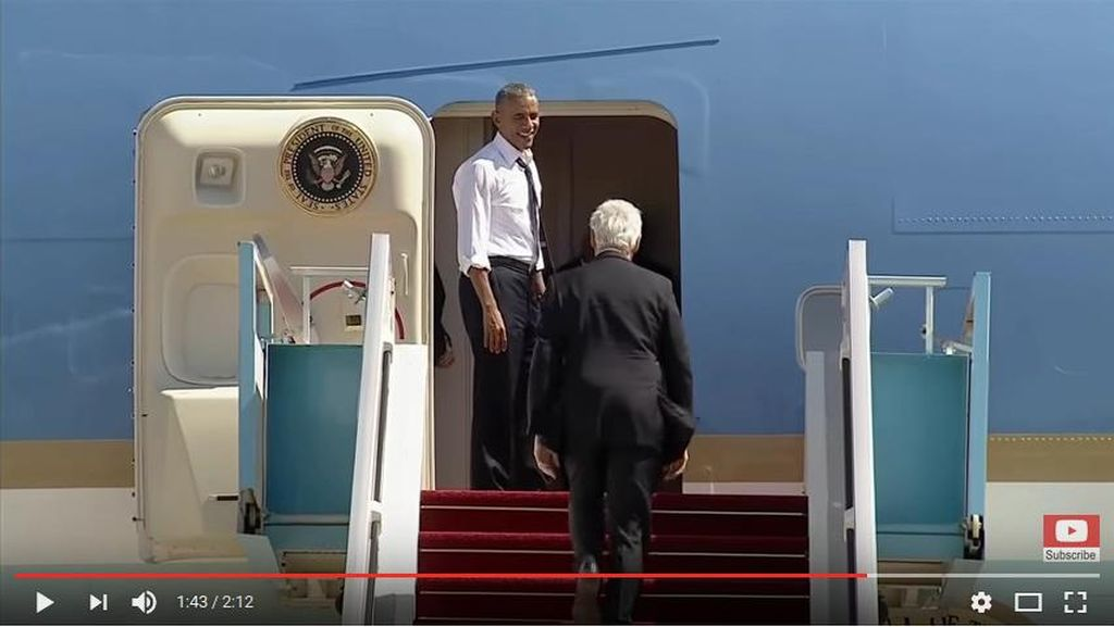 Saat Obama Tak Sabar Menunggu Bill Clinton Masuk ke Air Force One