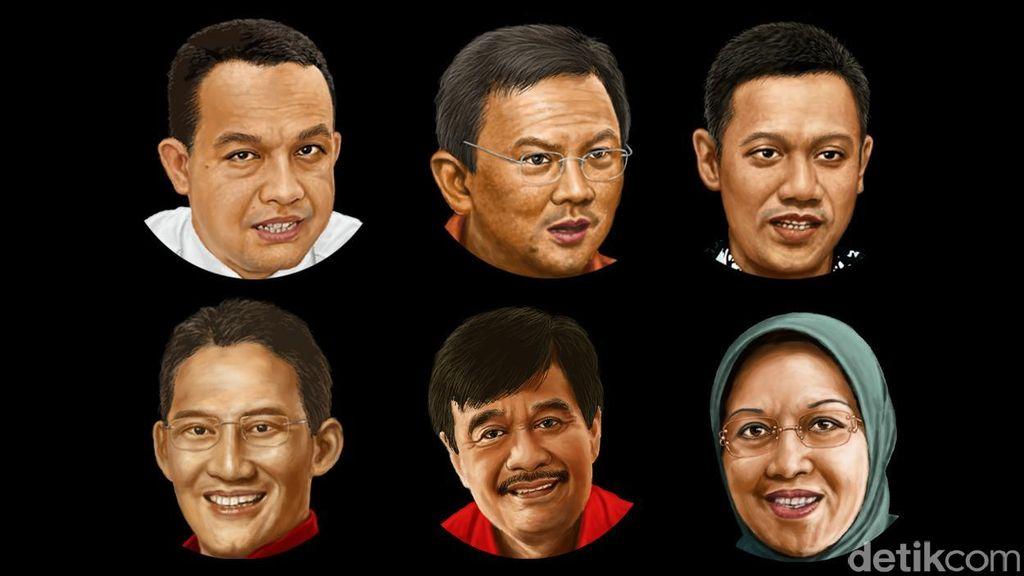 Saling Salip Elektabilitas Cagub DKI Jelang Penetapan KPU
