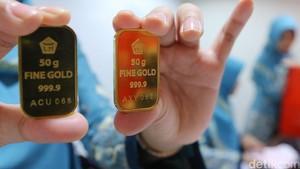 Harga Emas Stagnan di Rp 599.000/gram